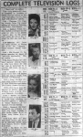 Typical 1961 TV listing 3 channels