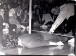 Sandee and Johnny doing the limbo at the WPLO sock hop that Avondale won. And Johnny was the real winner.