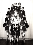 Clockwise Ginger Martin, Selah Reed. Sharon Reiley, Linda Simeli, Jill Thomas Co-Captain, Anne Powell Captain, Sandra Re
