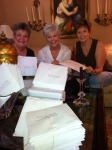 Sandee, Sandra and Valerie addressing invitations for the 50th.  Not pictured Jill Thomas and Sharon Brady