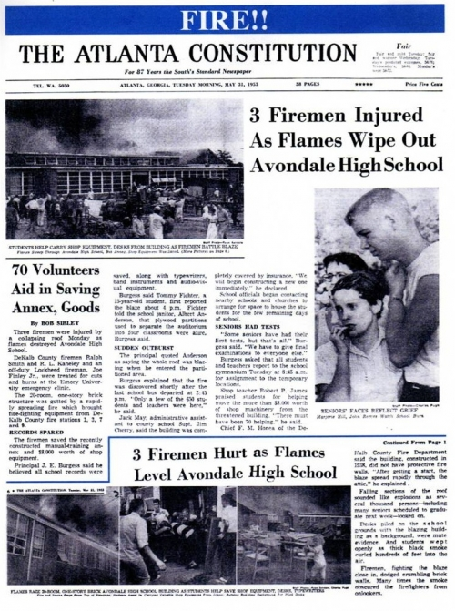 Avondale HS burns